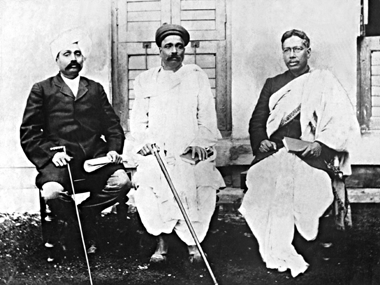 A 1910 file photo of the grand triad of Indian revolutionaries: Lala Lajpat Rai (left), Lokmanya Bal Ganghadar Tilak (centre) and Bipin Chandra Pal. The trio was also known as Lal, Bal, Pal.